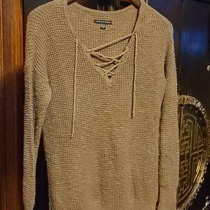 Womens knit lace long sleeve